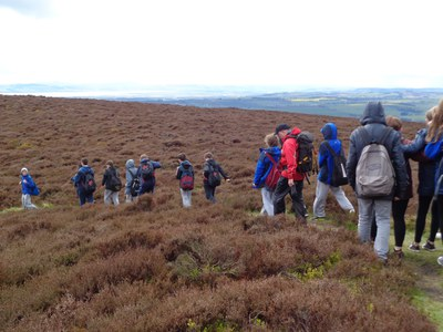 Starting the Descent from Auchterhouse Hill