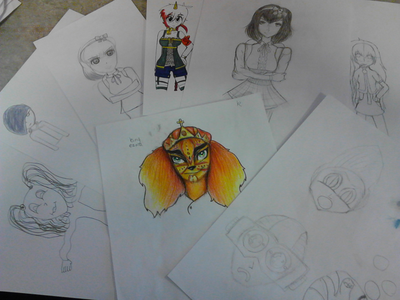 Manga Club Drawings