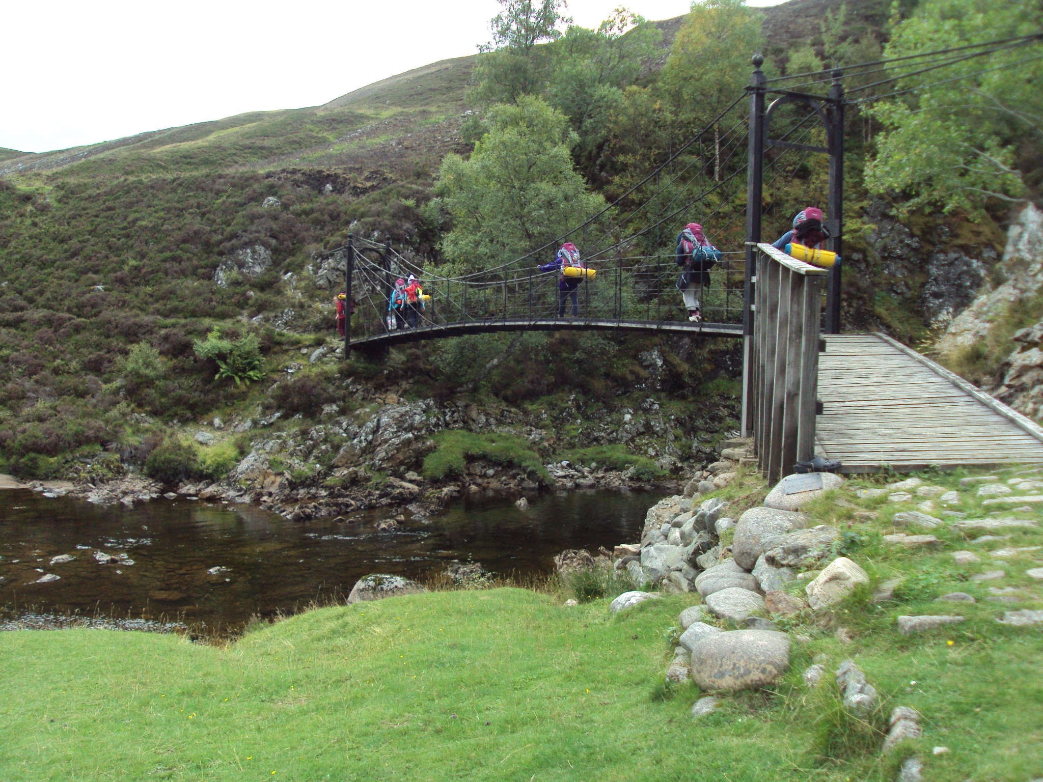 Silver Group on bridge at Falls of Tarf